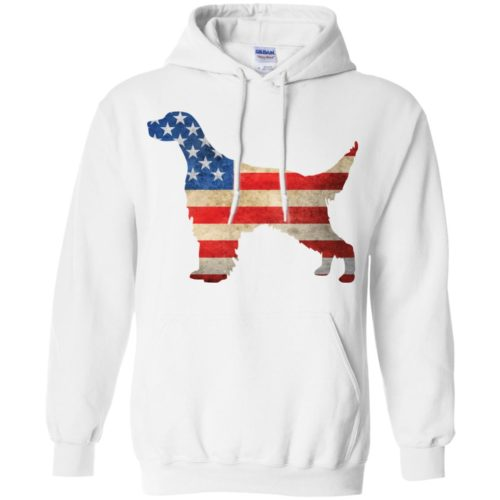 Vintage English Setter USA Pullover Hoodie