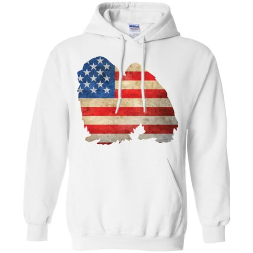 Vintage Japanese Chin USA Pullover Hoodie
