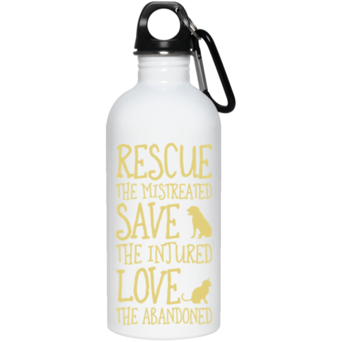 Rescue Them Stainless Steel Water Bottle