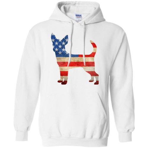 Vintage Chihuahua USA Pullover Hoodie
