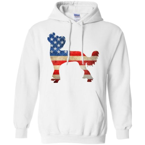 Vintage Chinese Crested USA Pullover Hoodie