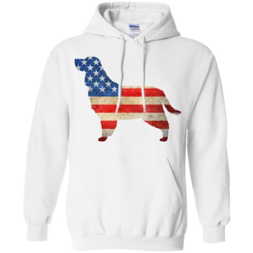 Vintage English Springer Spaniel USA Pullover Hoodie