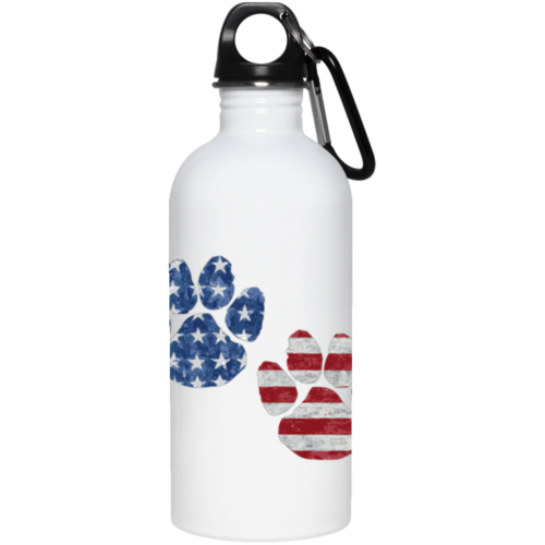 Flag Paws USA Stainless Steel Water Bottle