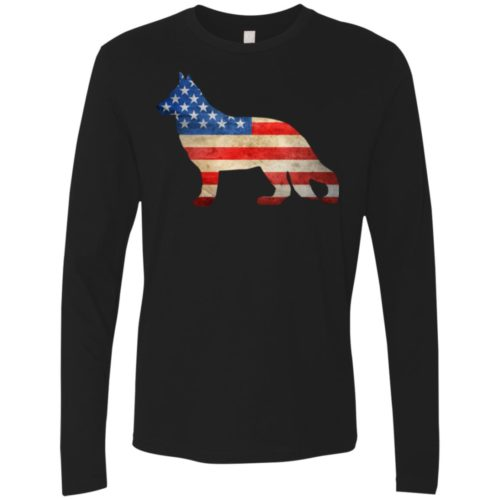 Vintage German Shepherd USA Premium Long Sleeve Shirt