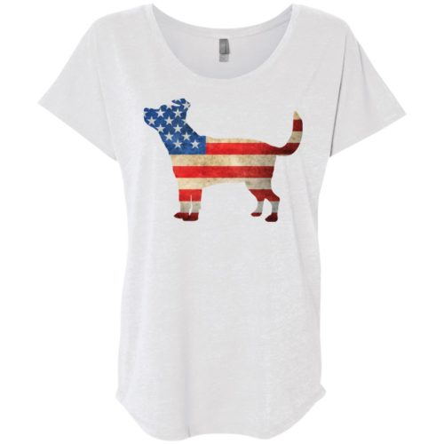 Vintage Terrier Mix USA Slouchy Tee