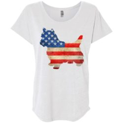 Vintage Yorkie USA Ladies' Slouchy T-Shirt