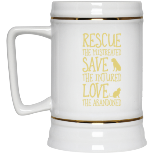 Rescue Them Beer Stein 22oz.