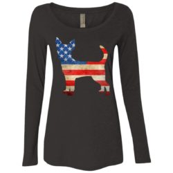 Vintage Chihuahua USA Ladies' Scoop Neck Long Sleeve Shirt