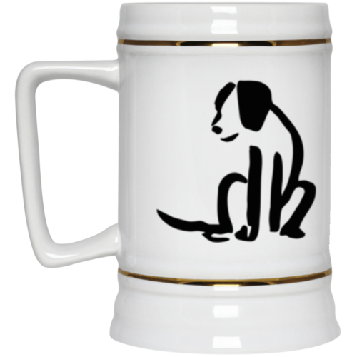 Dog Sketch Beer Stein 22oz.
