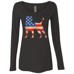 Vintage Pit Bull USA Ladies' Scoop Neck Long Sleeve Shirt