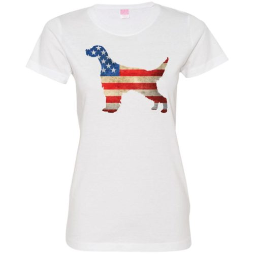 Vintage English Setter USA Fitted Tee