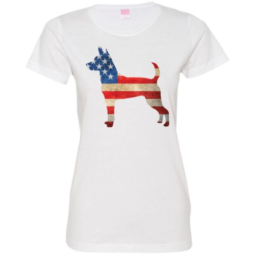 Vintage Rat Terrier USA Ladies' Premium T-Shirt