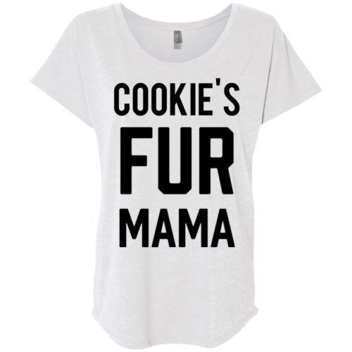 Fur Mama Personalized Ladies' Slouchy T-Shirt