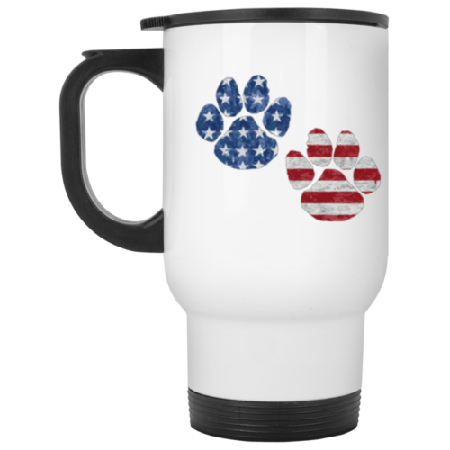 Flag Paws USA Stainless Steel Travel Mug