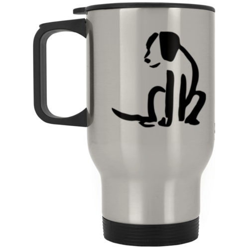 Dog Sketch Stainless Steel Travel Mug