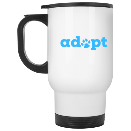 Adopt Paw Stainless Steel Travel Mug