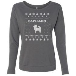 Papillon Christmas Ladies' Scoop Neck Sweatshirt