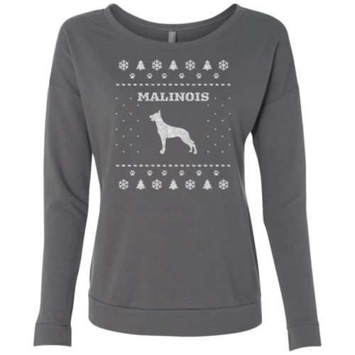 Malinois Christmas Scoop Neck Sweatshirt