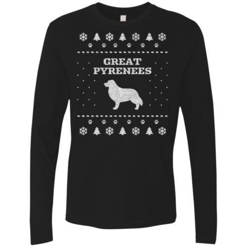 Great Pyrenees Christmas Premium Long Sleeve Tee