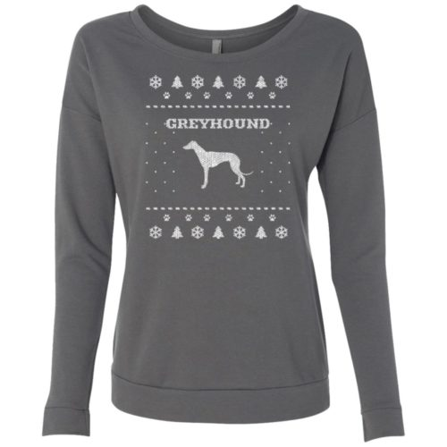Greyhound Christmas Scoop Neck Sweatshirt