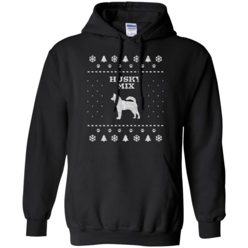 Husky Mix Christmas Pullover Hoodie