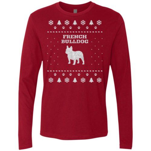 french bulldog christmas premium long sleeve tee secondary image