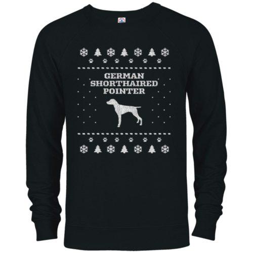 German Shorthaired Pointer Christmas Premium Crew Neck Sweatshirt