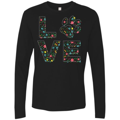 Love Paw Floral Premium Long Sleeve Tee