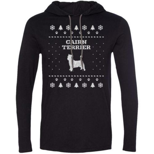 Cairn Terrier Christmas Lightweight T-Shirt Hoodie