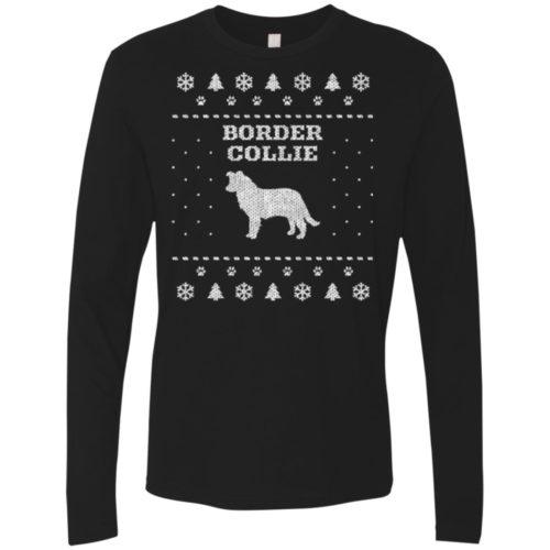 Border Collie Christmas Premium Long Sleeve Tee