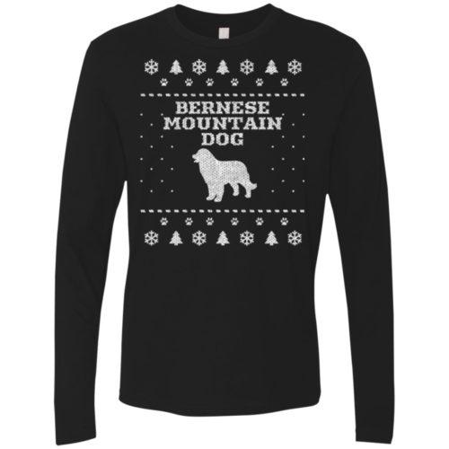 Bernese Mountain Dog Christmas Premium Long Sleeve Tee