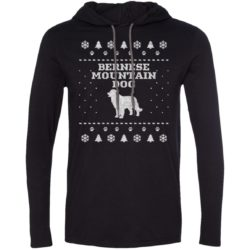 Bernese Mountain Dog Christmas Lightweight T-Shirt Hoodie