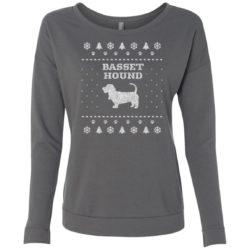 Basset Hound Christmas Ladies' Scoop Neck Sweatshirt
