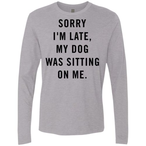 Sitting Dog Premium Long Sleeve Tee