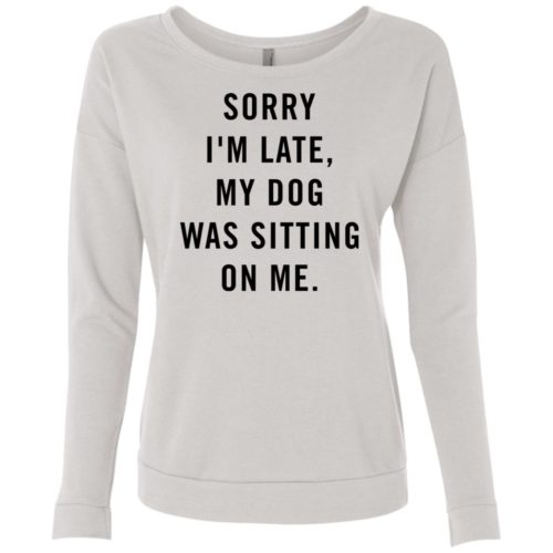 Sitting Dog Scoop Neck Sweatshirt