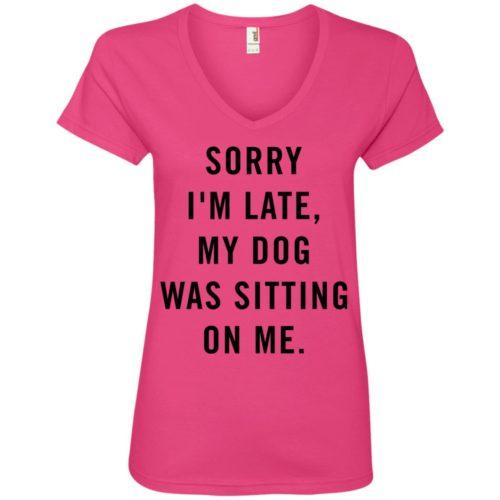 Sitting Dog V-Neck Tee