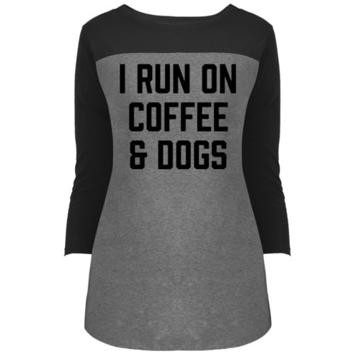 I Run On Coffee Colorblock 3/4 Sleeve