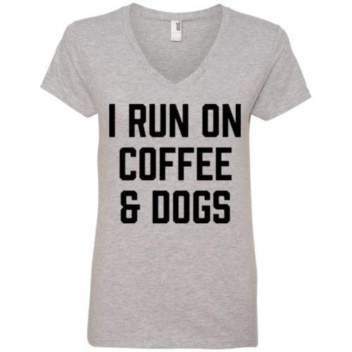 I Run On Coffee V-Neck Tee