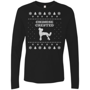 Chinese Crested Christmas Premium Long Sleeve Tee