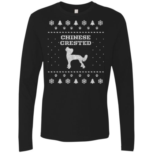 Chinese Crested Christmas Premium Long Sleeve Shirt