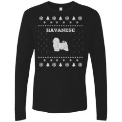 Havanese Christmas Premium Long Sleeve Shirt