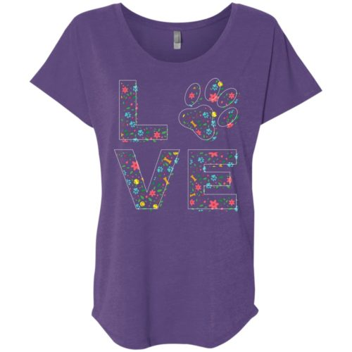 Love Paw Floral Slouchy Tee