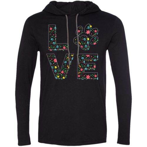 Love Paw Floral T-Shirt Hoodie