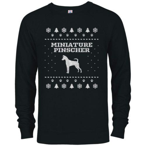 Miniature Pinscher Christmas Premium Crew Neck Sweatshirt