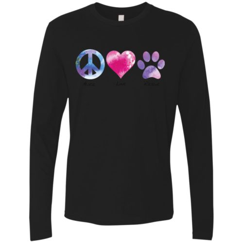 Peace Love Rescue Premium Long Sleeve Tee