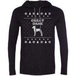 Great Dane Christmas Lightweight T-Shirt Hoodie