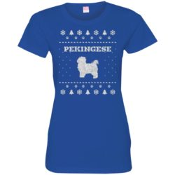 Pekingese Christmas Ladies' Premium T-Shirt