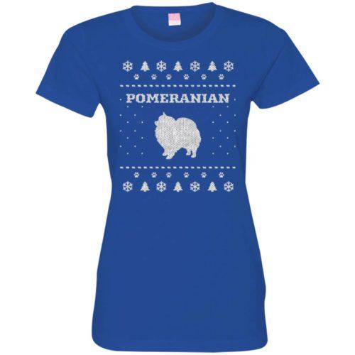 Pomeranian Christmas Ladies' Premium T-Shirt