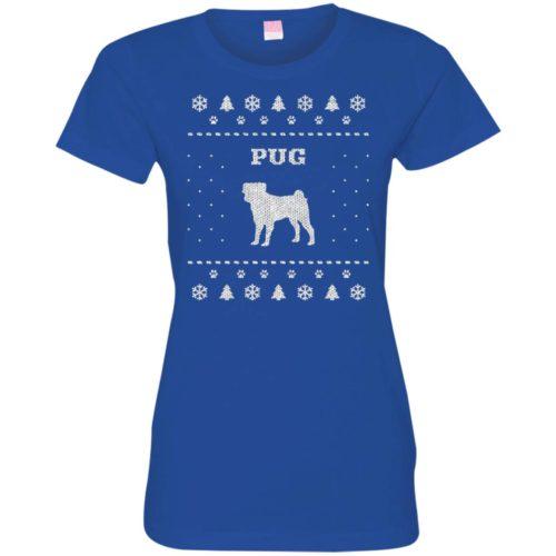 Pug Christmas Ladies' Premium T-Shirt