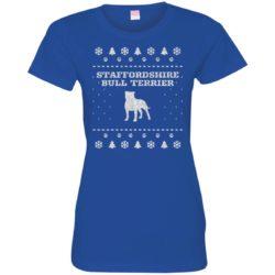 Staffordshire Bull Terrier Christmas Ladies' Premium T-Shirt